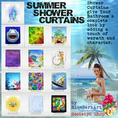 ☀ #Summer #Shower #Curtains ☀ by #bluedarkart on #Society6  featuring #colorful shower curtains Shower curtain €62 - society6.com #Purple #shower curtain €62 - society6.com #Patterned shower curtain €62 - society6.com Shower curtain €62 - society6.com #Beach shower curtain €62 - society6.com #Tropical shower curtain €62 - society6.com Patterned shower curtain€62 - society6.com Shower curtain€62 - society6.com Shower curtain€62 - society6.com… [  35 more words. ]…