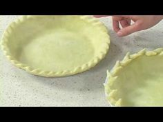 How to Crimp Decorative Pie Crusts, and prepare them to bake.  Love the wheat design!