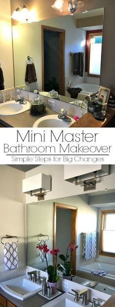 My mini master bathroom makeover was achieved with simple steps anyone can do!