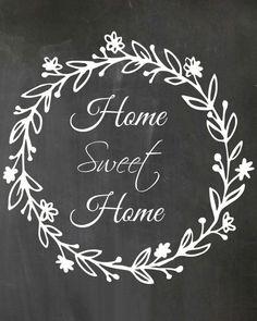Farmhouse signs diy - Free Printable Home Sweet Home – Farmhouse signs diy Diy Signs, Home Signs, Art Deco Font, Sweet Home, Free Sign, Chalkboard Art, Blackboard Wall, Trendy Home, Garlands