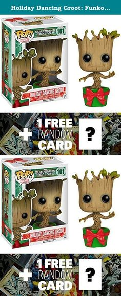 "Holiday Dancing Groot: Funko POP! x Guardians of the Galaxy Mini Bobble-Head Vinyl Figure + 1 FREE Official Marvel Trading Card Bundle [61968]. POP! is a crossover vinyl figure series by Funko and other famous franchises such as Disney, Pixar, DC Comics, Marvel Comics, Star Wars, Simpsons, South Park, Uglydoll, etc. Each POP! figure is about ~3"" to ~5"" tall and crafted in a Japanese anime/manga super-deformed style (NOTE: due to the unique design of each character, the actual size of the..."