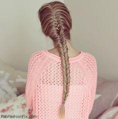 Chic fishtail braid hairstyle