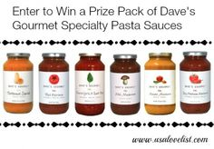 Dave's Gourmet Specialty Pasta Sauces #madeinUSA #giveaway