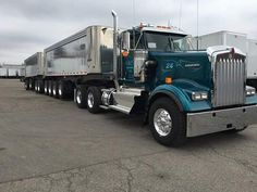 Kenworth W900 day cab Michigan train.