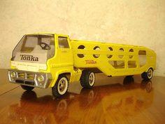Vintage Tonka Toys Pressed Steel Truck Car Hauler Semi to Restore or Parts | eBay