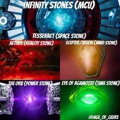 INFINITY STONES IN THE MCU  Only one Infinity Stone left to be revealed : Soul Stone. In which movie do you think it will appear?