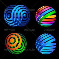 Decorative elements for the logo.  #GraphicRiver