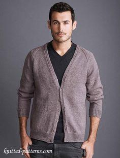 Cardigan with raglan sleeves knitting pattern