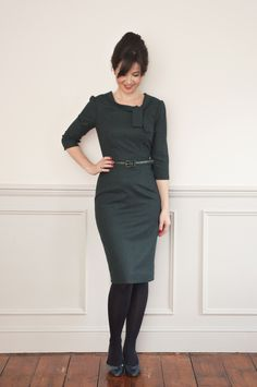 Sew Over It Joan Dress: 60s inspired dress based on the style of Mad Men's Joan Holloway