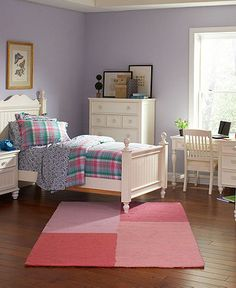 This is my dream bedroom set (in a full) for my favorite little girl!  Bed, nightstand, 5 drawer chest, 7 drawer dresser, mirror, bookshelf, desk and chair.