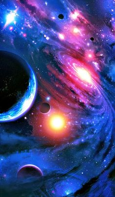 Galaxies, nebulas and planets ♥ I love outer space art! Planets Wallpaper, Wallpaper Space, Nature Wallpaper, Wallpaper Backgrounds, Iphone Wallpaper, Nebula Wallpaper, Galaxy Space, Galaxy Art, Galaxy Planets