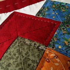 Tutorial Patchwork, Patch Quilt, Quilt Blocks, Sewing Art, Hand Sewing, Embroidery Applique, Graphic, Patches, Quilting
