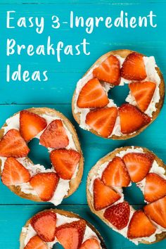 These easy 3-ingredient breakfast ideas will save you time in the morning and help power you and your kids until lunch. Breakfast Cookies, Breakfast Time, Breakfast Ideas, Healthy Meals For Kids, Healthy Breakfast Recipes, Healthy Recipes, Bowl Of Cereal, 5 Ingredient Recipes, Brunch Menu