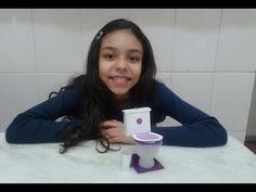 Como fazer vaso sanitario para o banheiro da barbie - YouTube