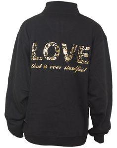 Love that is ever steadfast, DZ half zip sweater