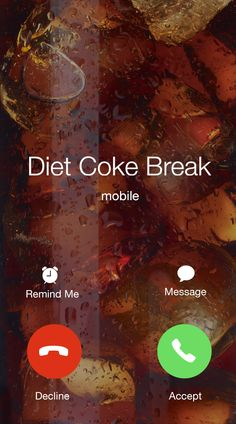 Keep your necessities on speed dial. | Diet Coke