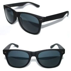 0f05118de44 Men s Women s matte black Sunglasses Rubberized Frame Retro Vintage Horn  Rimmed  Unbranded