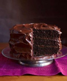 The best decadent chocolate cake for your cravings! This Chocolate Craving Cake has the richest flavor without a lot of fuss. This is the perfect comfort food! Save this chocolate cake recipe for later! Amazing Chocolate Cake Recipe, Decadent Chocolate Cake, Best Chocolate Cake, Chocolate Desserts, Chocolate Frosting, Chocolate Heaven, Chocolate Chocolate, Chocolate Layer Cakes, Old Fashioned Chocolate Cake