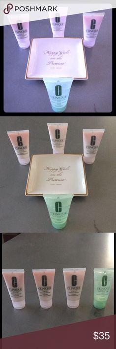 CLINIQUE TRAVEL MINIS Three 1oz rinse-off foaming cleanser and 1 liquid facial soap (mild) Clinique Makeup