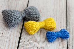 Bow-licious Crochet PDF Pattern, Small Medium & Large bow included - Knit look but crocheted on Etsy, $4.00