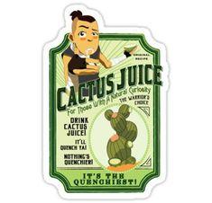 Drink Cactus Juice Stickers