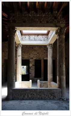 Pompeii, think of the footprint of Roman courtyard homes with water cachement under covered portico.