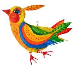 Pappmache - Vogel, Pappmache, L ca 47cm - ein Designerstück von villaazula bei DaWanda