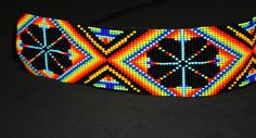 Peyote Choker Huichol Necklace Native by BiuluArtisanBoutique Native Beading Patterns, Seed Bead Patterns, Native Beadwork, Native American Beadwork, Peyote Patterns, Custom Clothing Design, Nativity Crafts, Seed Bead Earrings, Beads And Wire