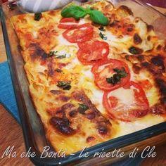 Lasagne al pomodoro #ricetta di @wondercle Al Forno Recipe, Mozzarella, Pepperoni, Summer Recipes, Vegetable Pizza, Lasagna, Quiche, Fresh, Cooking