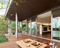 軒下空間 ウッドデッキ イメージ Glass House Design, Japanese Style House, House Layouts, Minimalist Home, Interior Design Kitchen, Ideal Home, House Plans, Decoration, New Homes