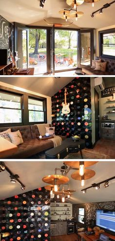 Music Themed | 16 DIY Man Cave Decor Ideas for Small Spaces that will rock your world!