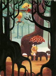 I really like the way Lorelay Bove paints...very beautiful and playful...kind of reminds me of Mary Blair a little bit.