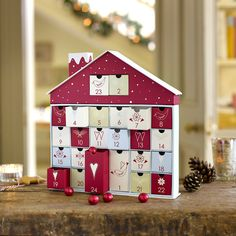 Reusable Christmas Advent Calendar House with Chocolates in Drawers: Amazon.co.uk: Kitchen & Home