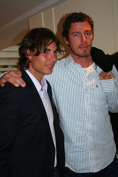 Past time for me is watching my favorite tennis players, Russian Marat Safin and Spanish Rafael Nadal