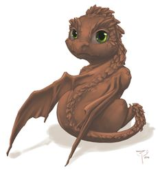 Earth baby dragon By crimson-nemesis on deviantart Dragon Face, Dragon Heart, Dragon Rpg, Dragon Knight, Fantasy Dragon, Baby Dragon, Fantasy Art, Fantasy Drawings, Fantasy Creatures