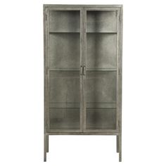 Alaska Industrial Loft Metal Apothecary Cabinet | Kathy Kuo Home