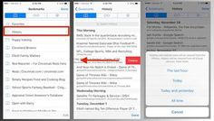 Learn how to clear a portion of your browsing history in mobile Safari or all of it.