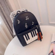 Piano Musical Casual Backpack - Artistic Pod Toddler Fashion, Boy Fashion, Music Backpack, Fashion Designer Game, Toddler Backpack, Boys Backpacks, Pin Up Dresses, Top Gifts, Fashion Labels