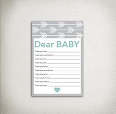 INSTANT DOWNLOAD Arrows Dear Baby Shower Wishes for by DraftEleven