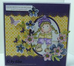 Geburtstagskarte - Stempel Magnolia