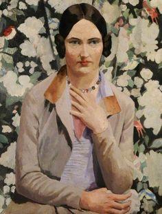 Portrait of Kate (Katherine Foster) (b.1904), 1925 by Richard Carline (British 1896-1980)