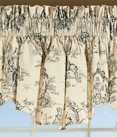Lenoxdale Toile Tapered Valance   Country Curtains®