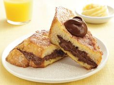 Enjoy this chocolate-stuffed French toast made with Original Bisquick® mix and eggs mixture. Serve with orange butter at your breakfast.