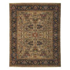 Amer Rugs Antiquity Hand Knotted Indoor Area Rug Brown/Camel Blue - ANQ80810