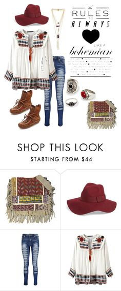 """""""Boho Beauty"""" by im-karla-with-a-k ❤ liked on Polyvore featuring moda, Vintage Addiction, Brixton, Boohoo, MANGO, House of Harlow 1960, women's clothing, women, female y woman"""