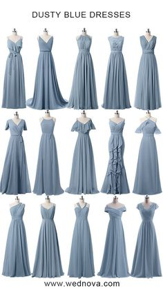 Jan 2020 - Dusty blue bridesmaid dresses cheap affordable for all sizes Light Blue Bridesmaid Dresses, Bridesmaid Dresses Under 100, Bridesmaid Dress Styles, Wedding Bridesmaids, Blue Dresses, Dusty Blue Dress, Navy Wedding Dresses, Bridemaid Dresses Long, Royal Blue Bridesmaids