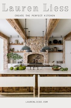 For me the design of a house always starts in the kitchen. Having designed kitchens for over 10 years Ive created this collection with all my favorite elements in mind. Decor, Rustic Kitchen, Kitchen Design, Lauren Liess, Interior Decorating Tips, Rustic Interiors, Beautiful Kitchens, Rustic Home Interiors, Kitchen And Bath
