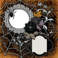 "Copper Blossom Paperie: Free Tattered Halloween 12""x12"" Digital Scrapbook ..."