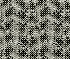 Chain Mail fabric by animotaxis on Spoonflower - custom fabric