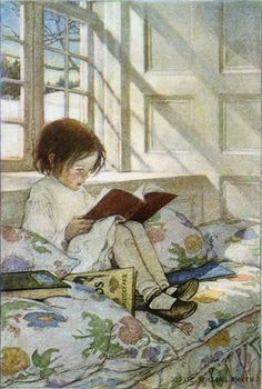 Books in Winter - Jessie Wilcox-Smith